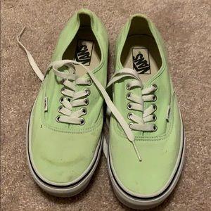 Vans Light Green Sneakers. Size 9